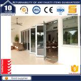 Porte coulissante de couleur d'aluminium de pli gris insonorisé intérieur extérieur de Bi
