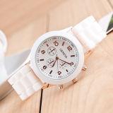 Женщин людей вахты 14color кварца Женева Wristwatches кремния Unisex сетноые-аналогов