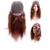 """"""" парик шнурка бразильских человеческих волос 16 швейцарский передний"""