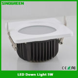UL Highquality LED Down Light 5W del FCC RoHS del Ce