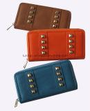 Бумажник PU модной конструкции кожаный, бумажник стержней