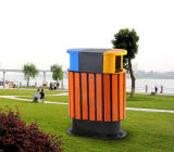 Jardim público Outdoor Plastic Products Dustbin com Iron Coated (HW-08)
