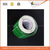 Collant estampé coloré d'adhésif de transfert de service d'impression d'étiquette de qualité