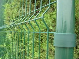Frontière de sécurité enduite galvanisée plongée chaude de palissade de jardin en métal de poudre