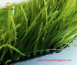 50 mm Altura de la pila de hierba artificial del césped de fútbol con buen drenaje