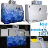 Напольный Merchandiser льда для хранения льда 750kgs