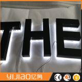 Lettres d'acier de miroir éclairées à contre-jour par DEL de la coutume 3D