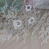 Tissu de lacet de voile de broderie pour la robe et la robe de mariage