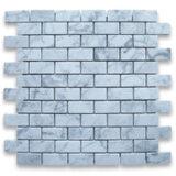 Плитка мозаики кирпича подземки Carrara белая итальянская мраморный мозаика 1 x 2 дюймов