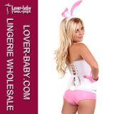 Traje consideravelmente cor-de-rosa L15331 do coelho