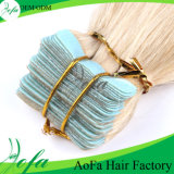 毛のバルクRemyのブロンドの人間の毛髪の拡張