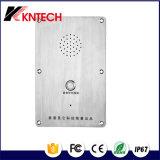 Teléfono analogico industrial inoxidable del elevador de los sistemas de intercomunicación del acero Knzd-09
