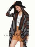 OEMの女性の方法円形の首の長い袖のセーターの衣服(W17-742)