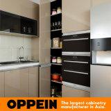 Gabinete de cozinha de madeira da laca elevada moderna do lustro com console (OP16-L16)