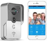 Haz ClicパラグラフObtener UnaヴィスタWiFi小型屋内鐘WiFiの視覚対面通話装置Doorbelが付いているAmpliadaの接続の屋外の鐘の無線かワイヤーで縛られたカメラ