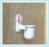 La toletta fissata al muro amichevole Brush&Holder di Eco ha impostato per la stanza da bagno