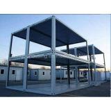 Casa de acero del envase de la luz del bajo costo del sitio de 2 bases