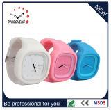 새로운 디자인 형식 묵 제네바 실리콘 손목시계 유리 숙녀 시계