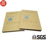 Caixa de cartão de papel impressa Cmyk para vidro Tempered, caixa de Costom de embalagem do protetor da tela