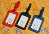 透過IDのWindowsが付いている旅行革製バッグの荷物の札