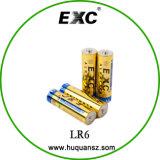 Bateria 1.5V da bateria de lítio Lr6 da bateria do AA 1.5V do tamanho Lr6 AA