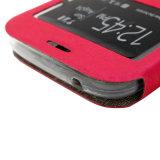 GroßhandelsMobiltelefon-Zubehör PU-magnetisches Kippen-beweglicher Fall/Deckel für Samsung