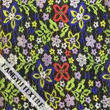 Цветастая ткань шнурка картины цветка