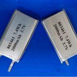 Una batteria 3.7V del 803461 Li-Polimero con la batteria di 2000mAh GPS