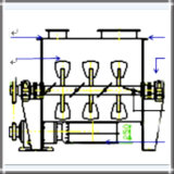 Горизонтальная сухая машина Blender порошка (двойной тип затвора вала)