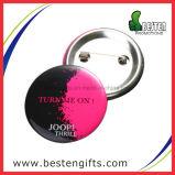 Divisa barato modificada para requisitos particulares libre del botón del metal del estaño de las muestras de Artigifts
