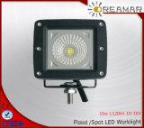 lámpara del trabajo de 15W 1120lm Pi67 LED con la viga del punto/de la inundación
