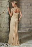Eine Zeile Hüllen-langes Partei-Abend-Abschlussball-Kleid, angepasst