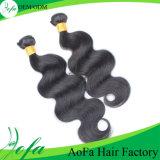 Remyの自然な黒のためのWeftマレーシアの人間の毛髪の拡張