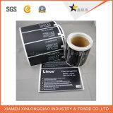 Collant adhésif d'imprimante d'époxy de code barres d'étiquette de papier voûtée claire d'étiquette