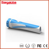 Low Price Rechargeable Bright Light Torch를 가진 플라스틱 Body Lithium Battery