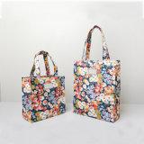 Deux tailles imperméabilisent les sacs à provisions floraux de Cineraria coloré de PVC (CK005-5)
