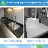 Basi d'appoggio di vanità della pietra del quarzo del laminato riciclate superficie solida di vetro