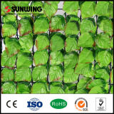Chinesisches Suppliers PVC Artificial Green Leaf Fence mit Fireproof Test