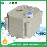 Válvula motorizada eléctrica del agua de los recambios 24VDC del actuador de la vávula de bola