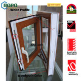 Vidro de madeira Windows do dobro do perfil da cor UPVC