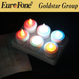 Vela de LED Tealight 6set Cuna de carga