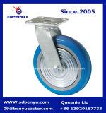 유럽 스타일 산업 블루 PU 캐스터 휠