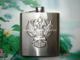 frasco caliente de la cadera del acero inoxidable de la exportación de los E.E.U.U. del frasco Hip de la insignia de la impresión 6oz