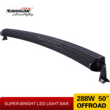 288W 50inch Hot Offroad Double Row Curved LED Light Bar