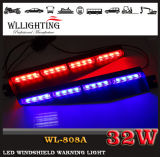 Blue rosso 32 LED Strobe Car Interior Windshield Lights con Suction