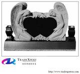 De dubbele Grafsteen van de Engel van het Graniet van het Hart Snijdende, Monument