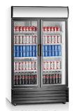 Refrigerador comercial refrigerando dinâmico da bebida ereta de 2 portas com dossel grande