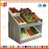 Hölzernes Supermarkt-Gemüse-und Frucht-Ausstellungsstand-Zahnstangen-Regal Zhv3