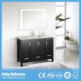 Мебель ванной комнаты тщеты твердой древесины американского типа люкс классицистическая с бортовым шкафом (BV150W)
