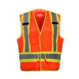 Qualitäts-reflektierende Sicherheits-Westen mit Polyester-Ineinander greifen-Gewebe 100%